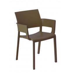 Krzesło Fiona z podłokietnikami brązowy