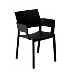 Krzesło Fiona z podłokietnikami czarny