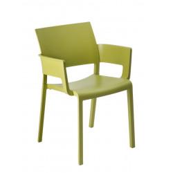 Krzesło Fiona z podłokietnikami zielone
