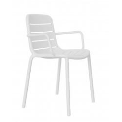 Krzesło Gina z podłokietnikami białe