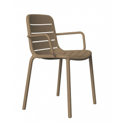 Krzesło Gina z podłokietnikami brazowe