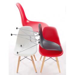 Krzesło JuniorP016 białe, chrom. nogi