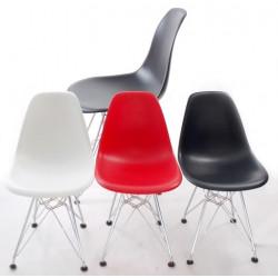 Krzesło JuniorP016 czerwone, chrom. nogi