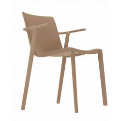 Krzesło Kat z podłokietnikami beżowy