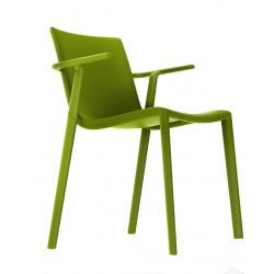 Krzesło Kat z podłokietnikami zielony