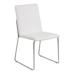Krzesło Kitos białe/chromowane