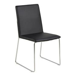 Krzesło Kitos czarne/chromowane