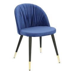 Krzesło Kotte Velvet niebieskie