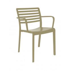 Krzesło Lama piaskowe z podłokietnikami