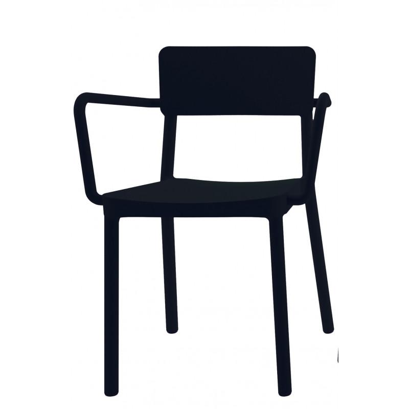 Krzesło Lisboa z podłokietnikami czarne