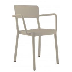 Krzesło Lisboa z podłokietnikami piaskow e