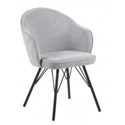 Krzesło Mitzie Steal Szare