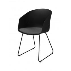Krzesło Moon 40 Czarne/ Szara poduszka
