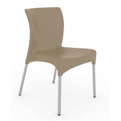 Krzesło Moon brązowy