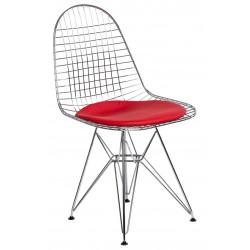 Krzesło Net czerwona pojedyncza poduszka
