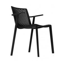 Krzesło NetKat z podłokietnikami czarny