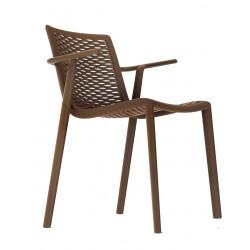 Krzesło NetKat z podłokietnikami czekola