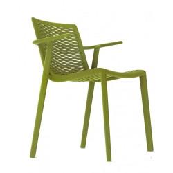 Krzesło NetKat z podłokietnikami zielony