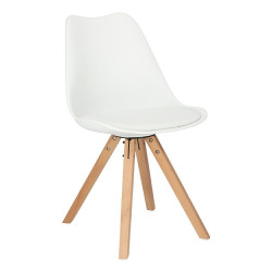 Krzesło Norden Star Square PP białe 1606