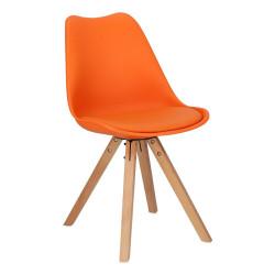 Krzesło Norden Star Square PP pomarańczo we