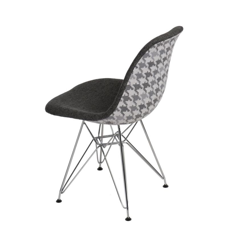 Krzesło P016 DSR Pattern szare/pepitka