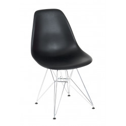 Krzesło P016 PP czarne, chromowane nogi