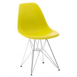 Krzesło P016 PP dark olive, chromowane nogi