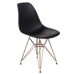 Krzesło P016 PP Gold czarne