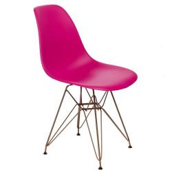 Krzesło P016 PP Gold dark pink