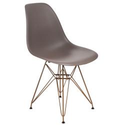 Krzesło P016 PP Gold mild grey