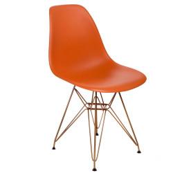 Krzesło P016 PP Gold pomarańczowe