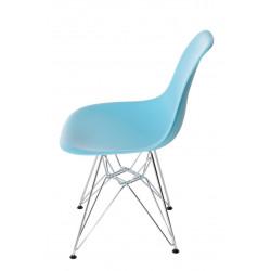 Krzesło P016 PP ocean blue, chromowane nogi