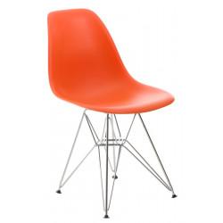Krzesło P016 PP pomaranczowe, chromowane nogi