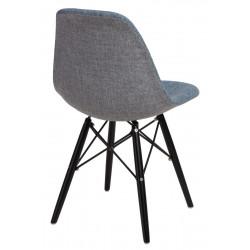 Krzesło P016W Duo nieb. szare/black