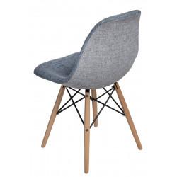 Krzesło P016W Duo niebiesko szare