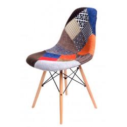 Krzesło P016W patch work, drewniane nogi