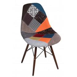 Krzesło P016W patchwork kolorowy /dark