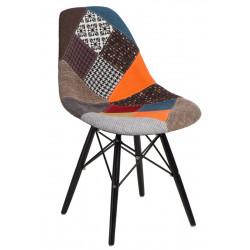 Krzesło P016W Patchwork kolorowy/black
