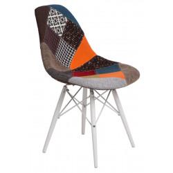 Krzesło P016W Patchwork kolorowy/white