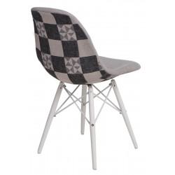 Krzesło P016W Pattern szar-patch/white