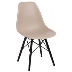 Krzesło P016W PP beige/black