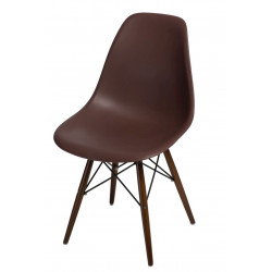 Krzesło P016W PP brązowe, dark nogi