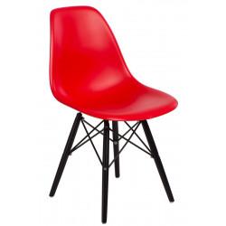 Krzesło P016W PP czerwone/black