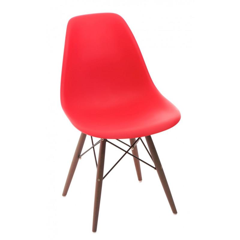 Krzesło P016W PP czerwone/dark