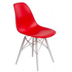 Krzesło P016W PP czerwone/white