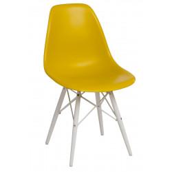 Krzesło P016W PP dark olive/white