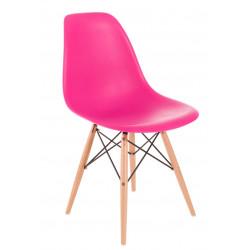 Krzesło P016W PP dark pink, drewniane nogi