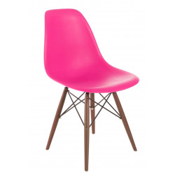 Krzesło P016W PP dark pink/dark
