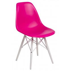 Krzesło P016W PP dark pink/white