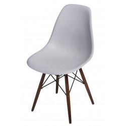 Krzesło P016W PP light grey/ dark nogi